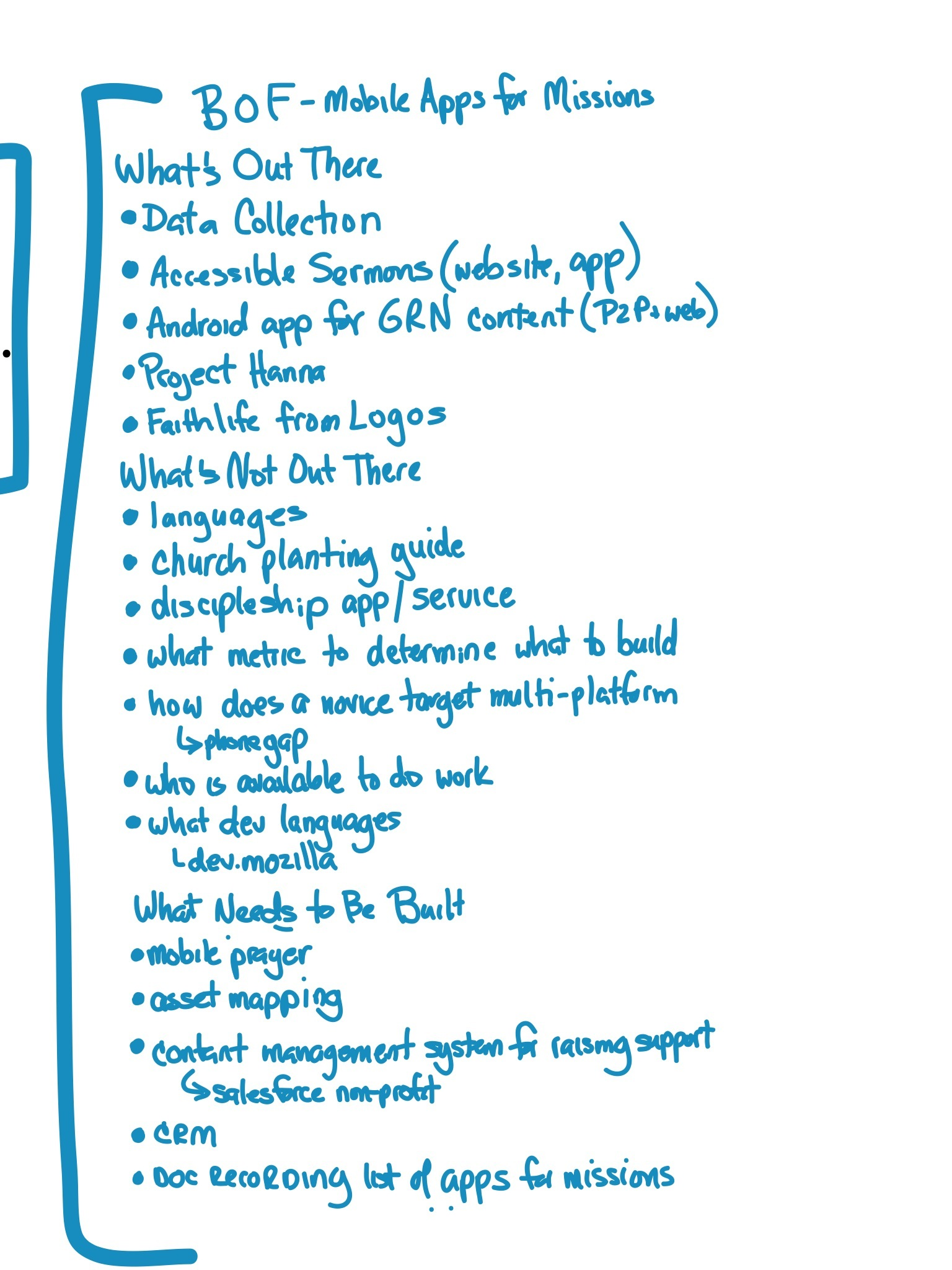 ICCM BOF Mobile Apps for Missions Sketchnote