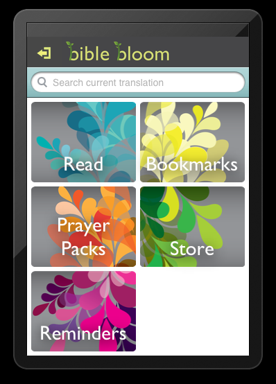 Bible Bloom homescreen